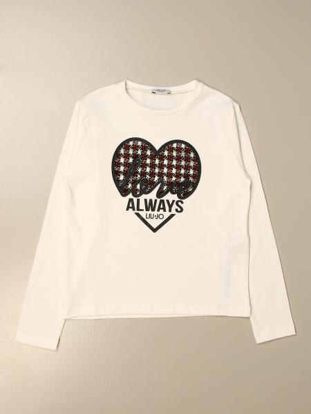 Liu Jo kids: Liu Jo cotton T-shirt with heart and logo