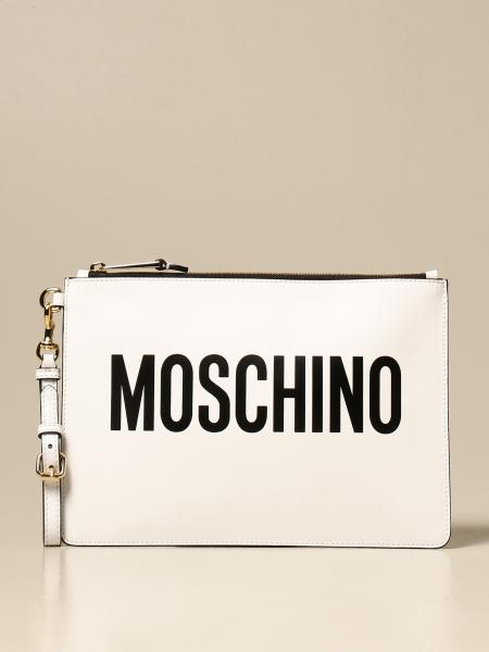 Moschino Couture leather clutch bag