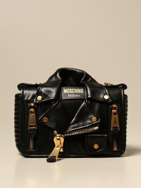 Borsa mini a tracolla Moschino Couture in pelle