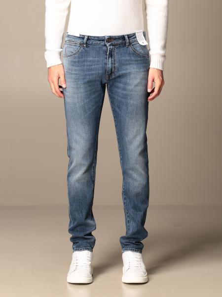 Jeans a vita bassa Pt in denim used
