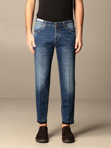 Jeans in denim Pt a vita bassa