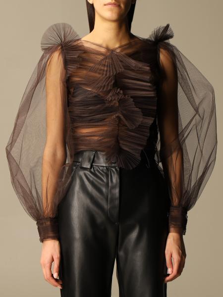 Brognano: Brognano shirt in sheer tulle