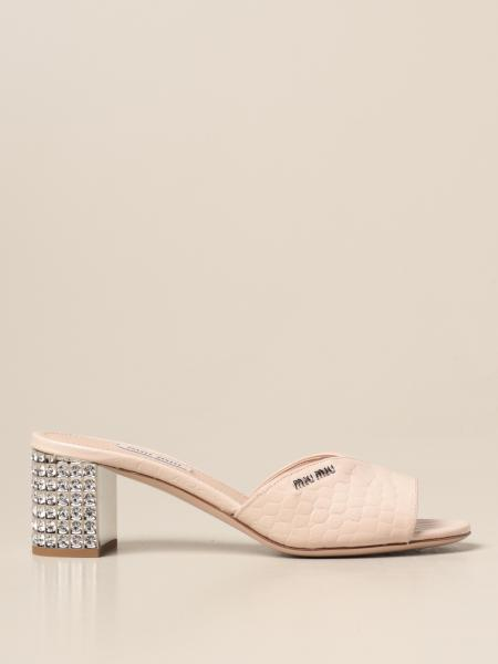Miu Miu women: Heeled sandals women Miu Miu