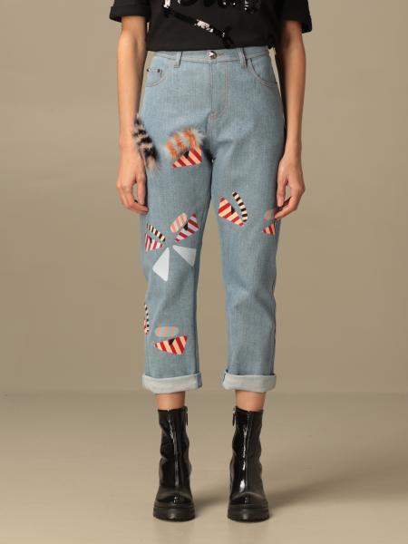 Jeans Fendi in denim con applicazioni