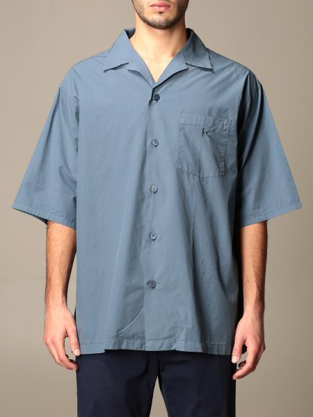 Kenzo bowling shirt in cotton with logo