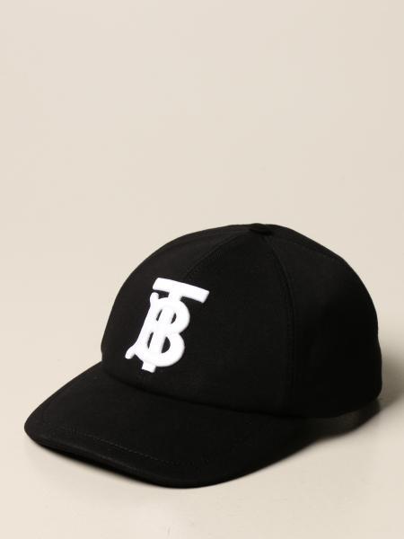Burberry uomo: Cappello da baseball Burberry in cotone con monogramma TB