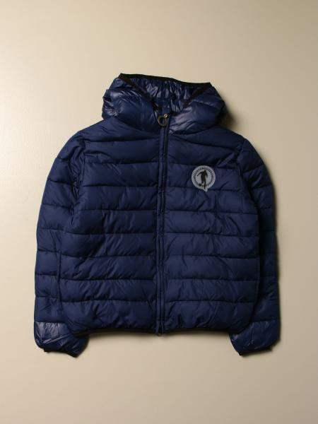 Bikkembergs down jacket with hood and zip