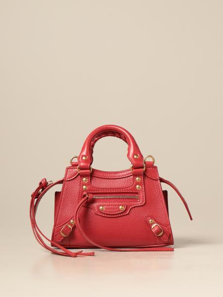 Balenciaga women: Balenciaga Neo classic city nano bag in textured leather