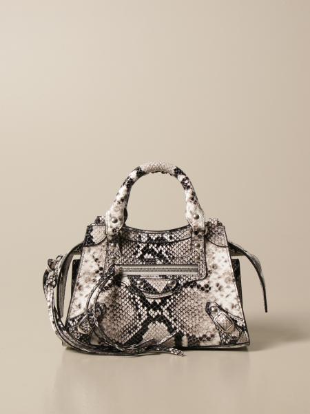 Balenciaga women: Neo classic city mini Balenciaga bag in leather with python print