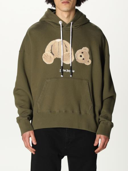 Palm Angels: Palm Angels hooded sweatshirt in cotton with bear print