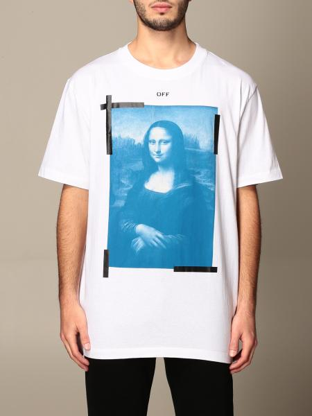 Off White men: Off White cotton T-shirt with Monnalisa print