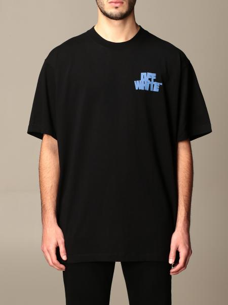 Off White men: Off White oversized cotton T-shirt with back print