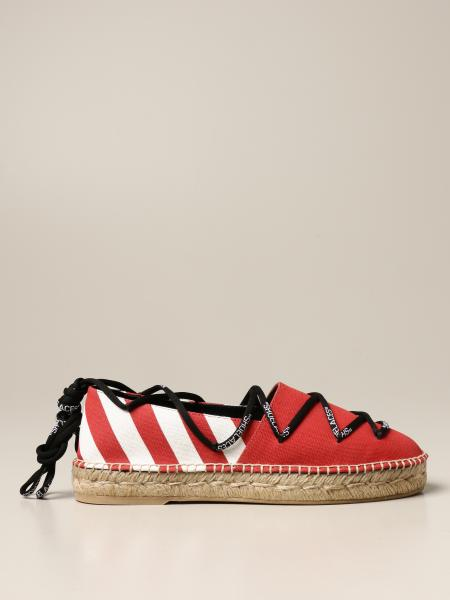 Off White espadrilles in canvas with diagonal striped print