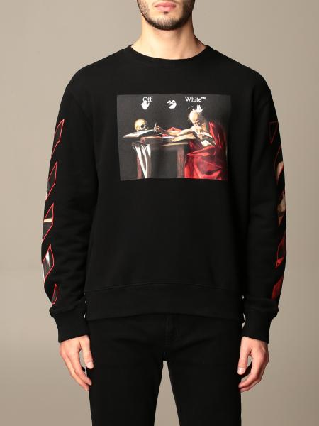 Off White men: Off White crewneck sweatshirt in cotton with arrows print