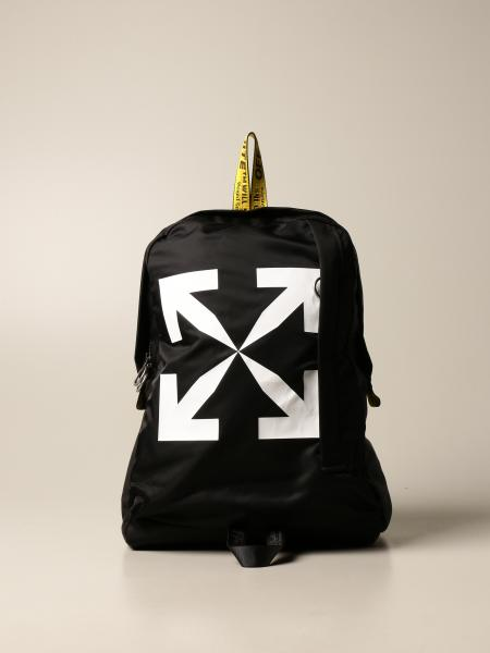 Off White men: Off White backpack in technical fabric with print