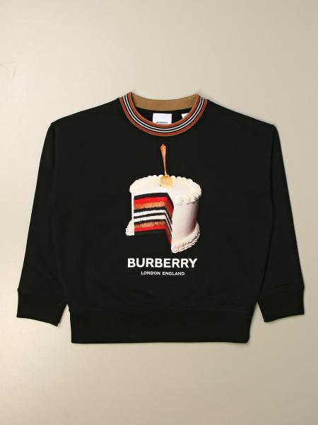 Burberry kids: Burberry cotton sweatshirt with cake print