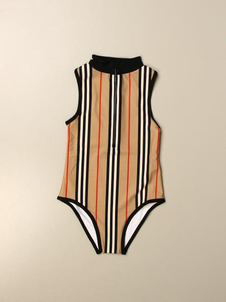 Burberry vintage striped one-piece swimsuit