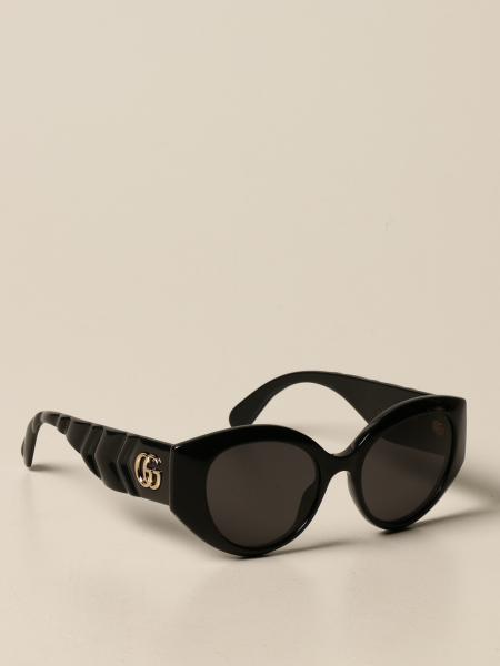 Gucci women: Gucci acetate sunglasses with logo