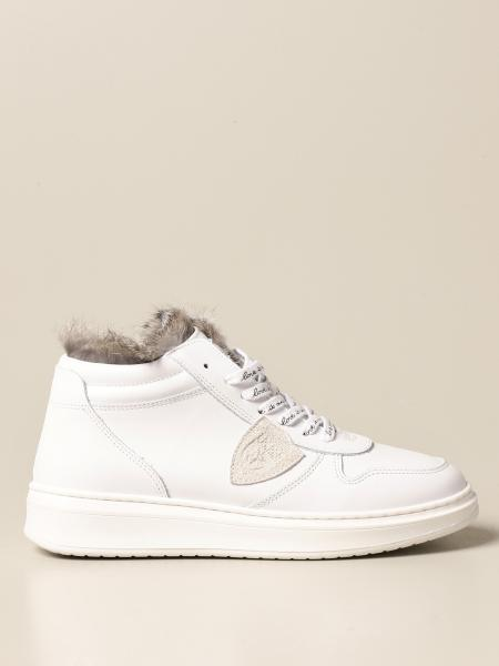 Philippe Model: Philippe Model sneakers in leather with zip