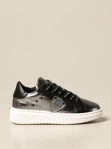Philippe Model: Sneakers Philippe Model in pelle laminata