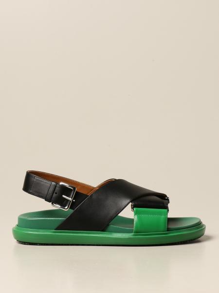 Fussbett Marni leather sandal