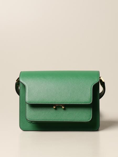 Trunk Marni shoulder bag in saffiano leather