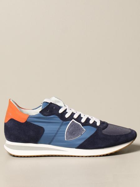 Philippe Model: Sneakers TRPX Philippe Model in nylon e camoscio