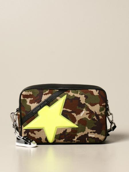 Star Golden Goose bag in camouflage canvas with glitter star