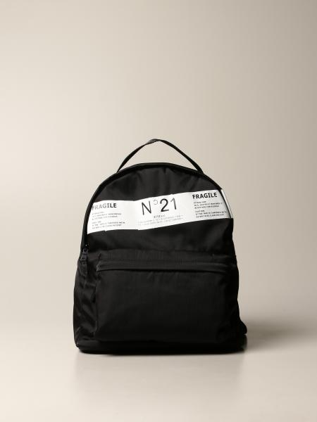 N ° 21 nylon backpack with logo band