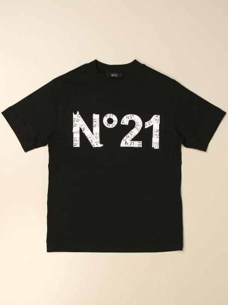 N°21 印有徽标的棉质T恤