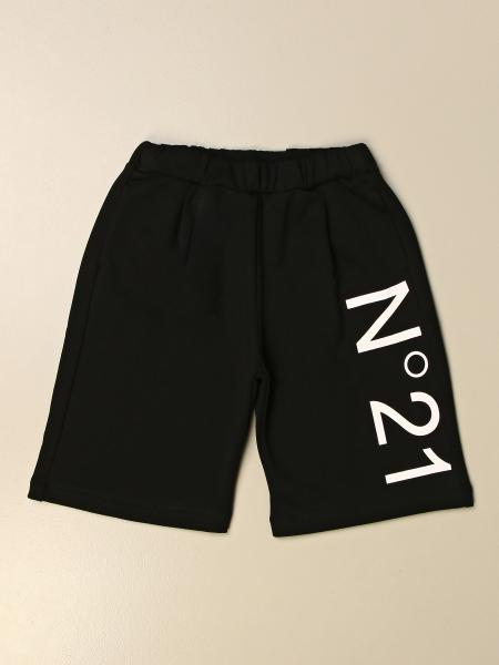 N ° 21 jogging shorts in cotton with logo