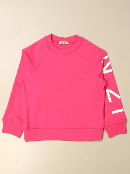 N ° 21 crewneck jumper in cotton with logo