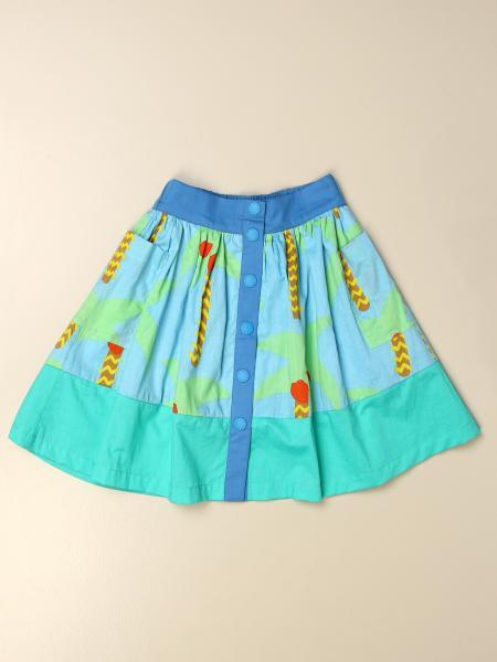 Stella Mccartney kids: Stella McCartney wide skirt with palm pattern