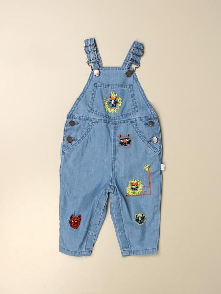 Stella Mccartney kids: Stella McCartney denim overalls with embroidery