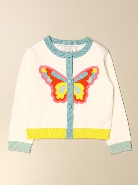 Stella Mccartney kids: Stella McCartney crew neck cardigan with butterfly