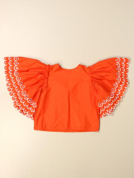 Stella McCartney cropped top with maxi sleeves