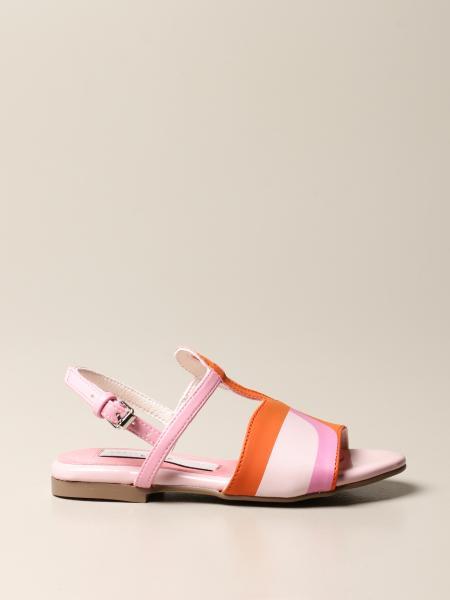 Stella Mccartney kids: Stella McCartney sandal in flamingo-shaped leather