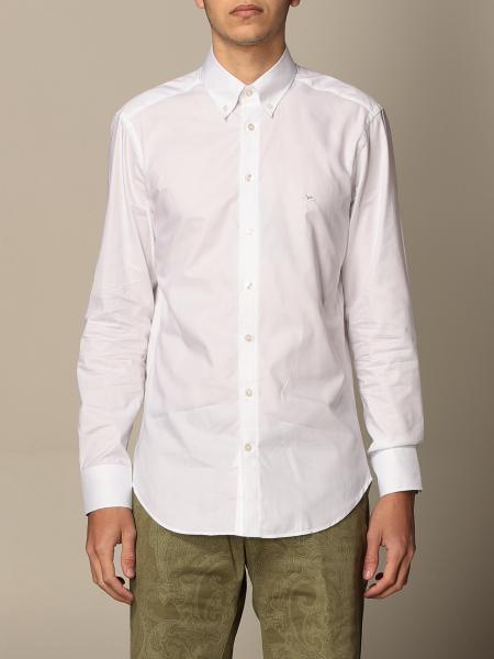 Camicia classica Etro in cotone con logo Pegaso