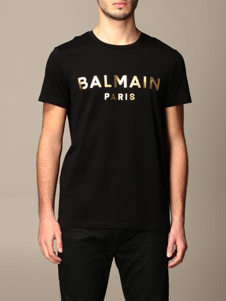 Balmain cotton T-shirt with laminated logo