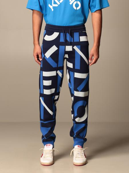 Kenzo cotton jogging trousers with all-over big logo