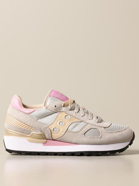 Saucony: Saucony sneakers in synthetic suede and micro mesh