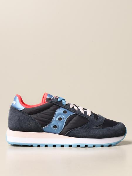 Saucony: Saucony sneakers in synthetic suede and nylon