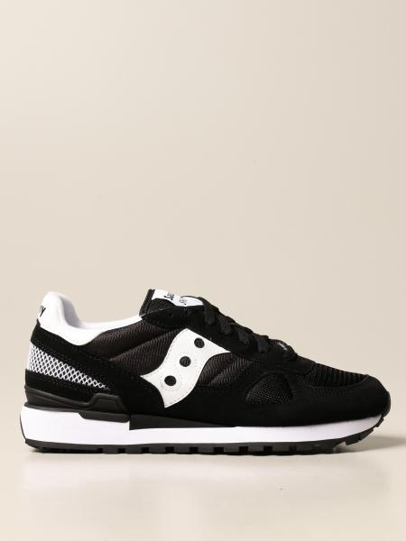 Saucony: Saucony sneakers in synthetic suede and micro net