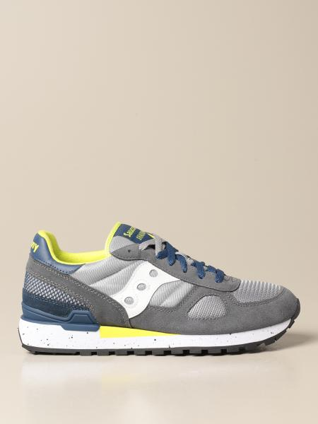 Saucony sneakers in synthetic suede and micro net