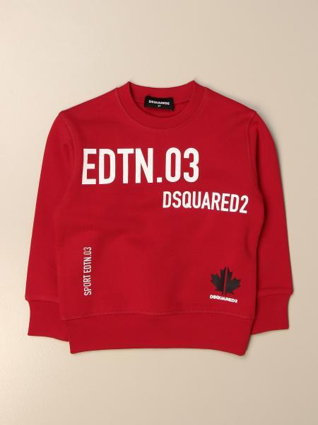 Dsquared2 Junior crewneck sweatshirt in cotton with big prints
