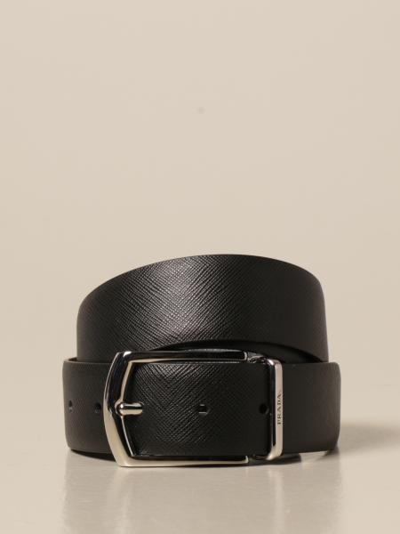 Prada: Cintura reversibile Prada in pelle saffiano