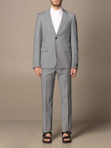 Prada single-breasted suit in virgin wool and Mohair