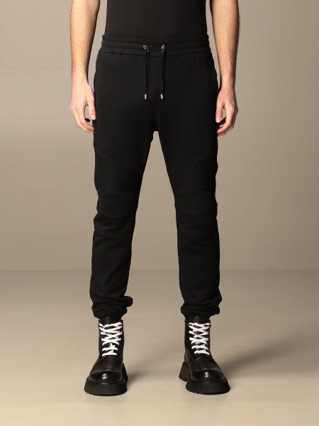 Balmain cotton jogging trousers with logo