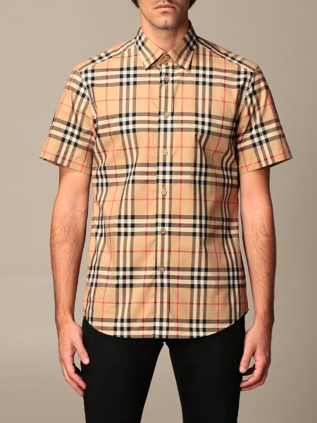 Simpson Burberry shirt in cotton poplin with check pattern