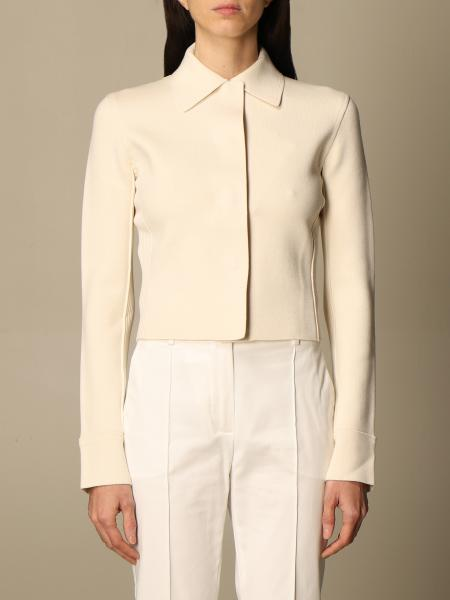 Sportmax cropped jacket in stretch viscose